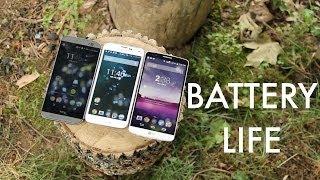 LG G3 vs Galaxy S5 vs HTC One M8 pil ömrü testi