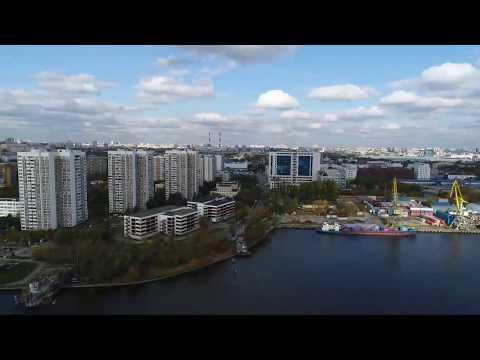 Стрим с квадрокоптера - Строящийся Московский Диснейленд Остров Мечты, Нагатинская пойма