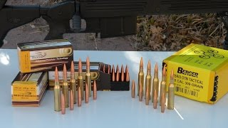 338 Lapua Solid Copper vs Lead Core Bullets
