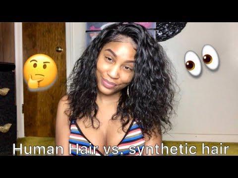 SYNTHETIC HAIR VS. HUMAN HAIR| ft. Vbhair.com