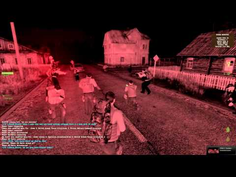 ArmA 2 (DayZ mod) - Running from horde