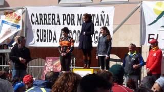 Subida Portazgo 2013 (pódio femenino local)