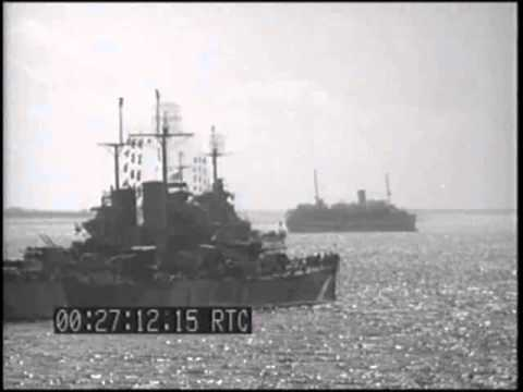 INVASION OF SAIPAN; TASK FORCE *58 AT ROI HARBOR, DD FUELS FROM BB