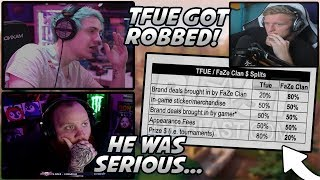 Ninja & Tim SHOCKED After Seeing Tfue's LEGIT FaZe Clan Contract! (Tfue Got ROBBED...)