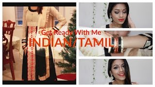 Indian/Tamil Get Ready With Me| Makeup, Anarkhali, Jewelry
