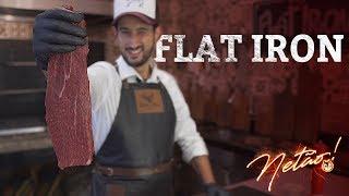 Flat Iron –Como afiar faca   Netão! Bom Beef #11
