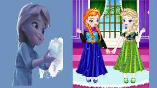 Disney Frozen Dress Up Game Movies-Baby Elsa with Anna Dress Up Gameplay-Frozen Babies Games
