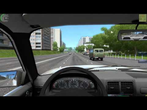 [City Car Driving 1.5.2] - Клип про таксиста на Волге/Clip about a taxi driver on the Volga