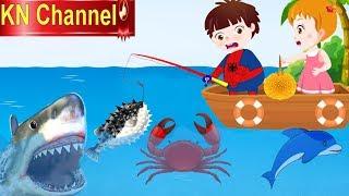 Hoạt hình KN Channel BÉ NA ĐI CÂU CÁ NGOÀI BIỂN GẶP CÁ MẬP |Hoạt hình Việt Nam | GIÁO DỤC MẦM NON