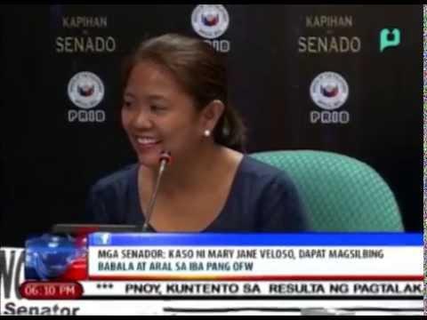 Sen. Nancy Binay: Kaso ni Mary Jane Veloso, dapat magsilbing babala at aral sa mga OFW
