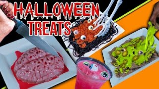 DIY Halloween Party Treats! Edible Slime, Brains & MORE!