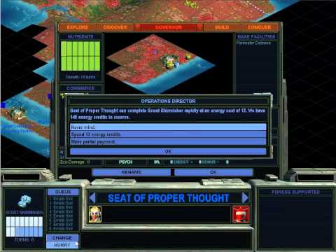 Let's Play Sid Meier's Alpha Centauri Part 1: Three Wars in One Hour