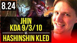 JHIN vs hashinshin KLED (TOP) (DEFEAT) | 4 early solo kills, KDA 9/3/10 | NA Diamond | v8.24