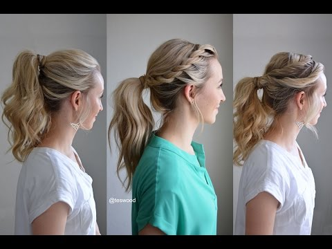 Three Simple Fancy Ponytails | Q's Hairdos | Tessi's Hairstyle - YouTube