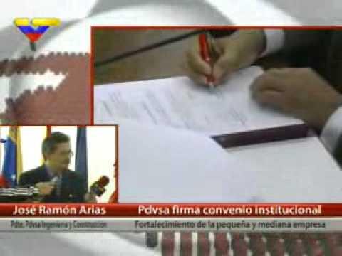 Pdvsa Ingeniería y Construcción firmó convenio para afianzar pequeña y mediana empresa