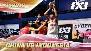 China earns a big win over Indonesia - Full Game -  Asia Cup U18 - FIBA 3x3