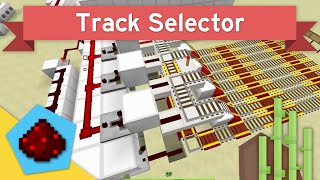 Minecart Track Selector (Using Comparators)