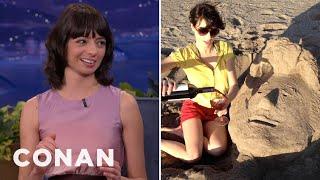 Kate Micucci's Romantic Beach Date With Conan O'Brien - CONAN on TBS