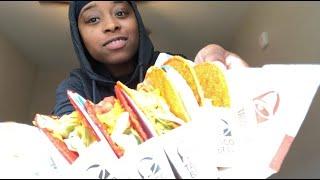 Taco Bell Mukbang   Doritos Locos Tacos x Fiery Doritos Taco Supreme   Eating Show