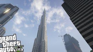 GTA 5 PC Map MOD - Burj Khalifa Building Mod! (Tallest Building in The World)