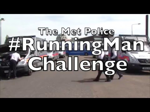 The London Met Police-Running Man Challenge