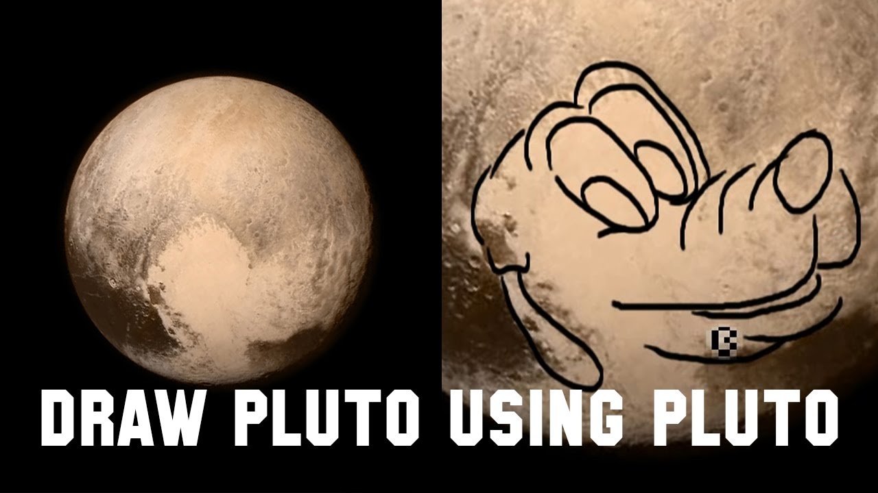 Pluto The Dog In Space How to Draw Pluto the Dog