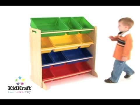 Muebles para juguetes de colores en eurekakids youtube - Armario para guardar juguetes ...