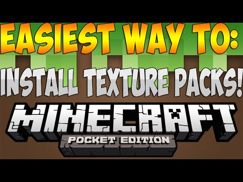 IOS EASIEST WAY TO INSTALL TEXTURE PACKS MCPE TP Manager Minecraft: Pocket Edition