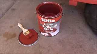 Behr Redwood Stain No. 9