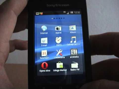 Sony Ericsson Xperia X8 - zmiana interfejsu. połączenia. sms ...