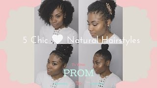 5 Chic Hairstyles to Wear to Prom/Wedding for Naturally Curly Hair!!!