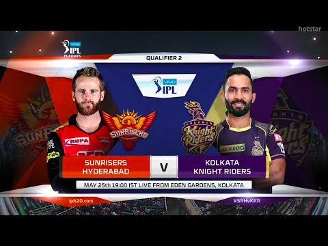 IPL 2018 Qualifier 2 SRH VS KKR Live | IPL 2018 Kolkata VS Sunrisers live scorecard