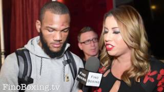 Julian Williams immediately after losing to Jermall Charlo