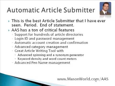 0 Automatic Article Submitter Tutorial 1a