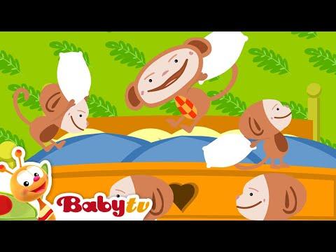 Beş küçük maymun - BabyTV Türkçe
