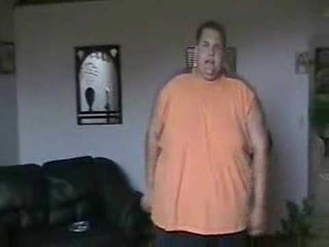 fat guy working out! - YouTube