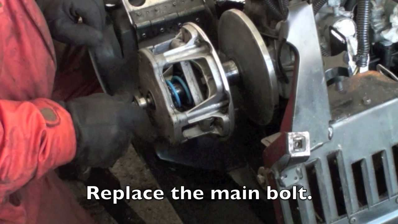 Changing A Snowmobile Primary Clutch Spring And Weights
