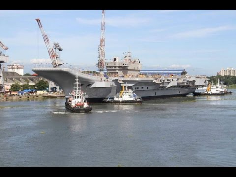 Future Aircraft Carrier of Indian Navy Ins Vikrant Undocked