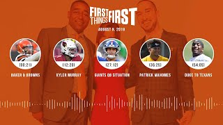 First Things First Audio Podcast (8.9.19) Cris Carter, Nick Wright, Jenna Wolfe | FIRST THINGS FIRST