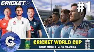 Cricket 19 World Cup Playthrough (England) #1   THE WORLD CUP BEGINS!
