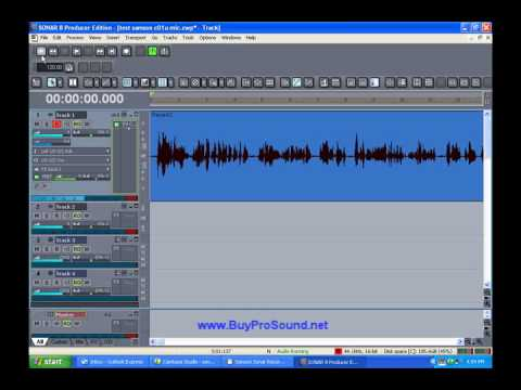 How to record with a Samson C01U USB Mic and Cakewalk Sonar LE Software
