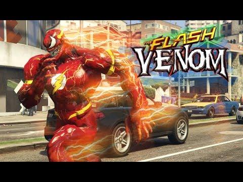 Khi The Flash Kết Hợp Với Venom Ra Siêu Tia Chớp Venom Cực Mạnh Trong Gta5 thumbnail