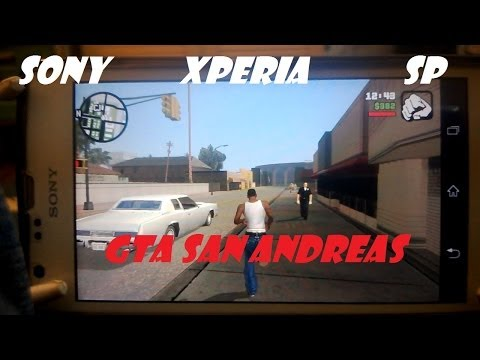 Sony Xperia SP - Grand Theft Auto San Andreas Dualshock 3 Gameplay - ANDROID