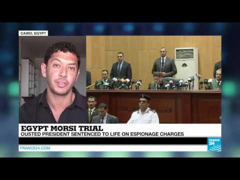Egyptian ex-president Morsi sentenced to life in espionage trial