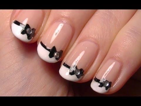 ♥ Cute Little Bow Nail Art • Simple Nail Polish Art Tutorial for Short Nails ♥