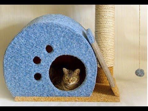 Как сделать домик для кошки своими руками. Модный Домик Для Кошки !-? ? ? ?