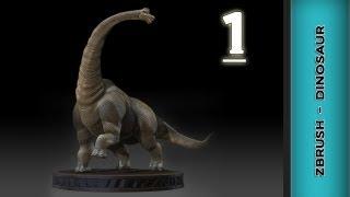 Zbrush Texturing Tutorial - Dinosaur (brachiosaurus)