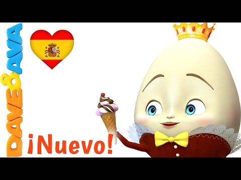 🥚 Сanciones Infantiles   Humpty Dupty    Canciones Infantiles en Español de Dave y Ava 🥚