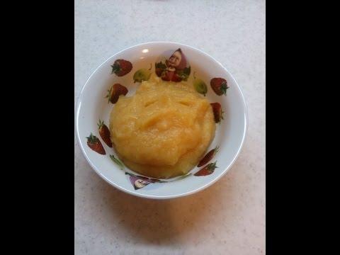 Фруктовое пюре для детей. Яблочно-грушевое пюре в мультварке на пару.