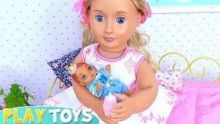 New Born Baby Doll Bedroom Wardrobe Toys Play!